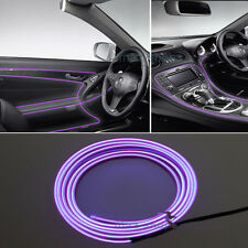 2M 12V EL Wire Purple Cold light Neon Atmosphere Lights Unique Decor For Toyota