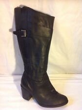 Hush Puppies Black Knee High Leather Boots Size 40