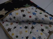 Circo crib bedding Quilt Blanket stars pattern cotton blend navy blue EUC