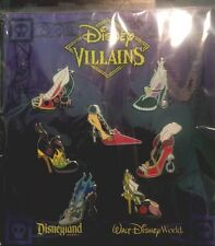 Disney 7 Pin Booster Pack Villains Shoes Set Complete New In Package High Heels