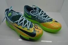 Nike KD VI Liger Electric Green/Night Factor Men's AUTOGRAPHED Shoes Size 8.5