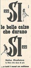 W8604 SI-SI le belle calze che durano - Pubblicità del 1958 - Vintage advert