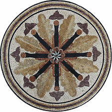 Medallion Mosaic Flowers Tile Stone Art Floor Tabletop Marble Mosaic MD1782