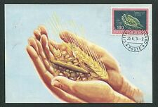 Vatican MK 1974 BIBBIA BIBLE cereali cereals maximum scheda MAXIMUM CARD MC d7320