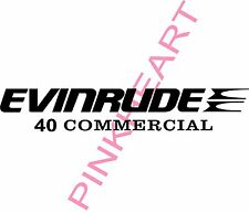 evinrude outboard decal kit 40 commerical decal stickers made in the USA boat