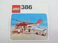Lego 386 Bauplan - Bauanleitung - Beschreibung #AM