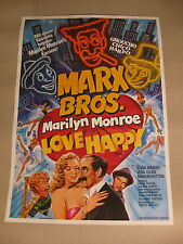 MARX BROTHERS - LOVE HAPPY - Poster Plakat - Groucho Bros Marilyn Monroe