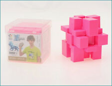 Stickerless YuXin Speed 3x3x3 Mirror Block Cube Forever Color Pink + Protect Box