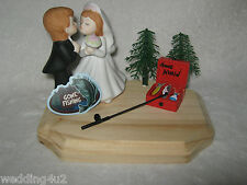 Wedding Party Reception ~Fishing Fisherman~ Cake Topper Pole Tackle Box Kissing