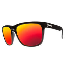 Electric Visual Knoxville XL Gloss Black / Grey Fire  Chrome Sunglasses