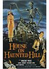 House on Haunted Hill - Vincent Price - A4 Laminated Mini Poster