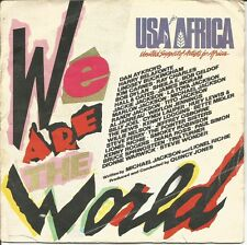 USA FOR AFRICA + QUINCY JONES-WE ARE THE WORLD + GREASE SINGLE VINILO 1985 SPAIN