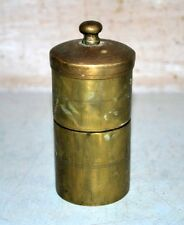 Old Antique Indian Brass Hand Crafted Islamic Kitchen Salt And Pepper Shakers