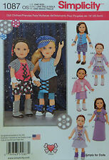 "Simplicity 1087 PATTERN fits 18"" American Girl DOLL CLOTHES Steampunk Clothing"