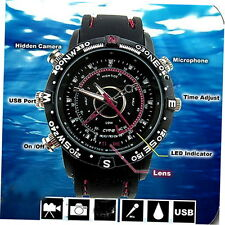 Waterproof 8GB Watch DVR Video Recorder-Pinhole Hidden Camera Camcorder GU
