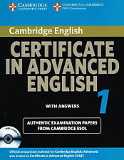 Cambridge CERTIFICATE IN ADVANCED ENGLISH CAE 1 w Answers & Audio CDs @NEW@