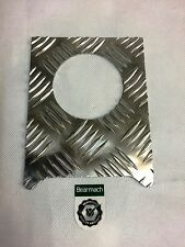 Bearmach Land Rover Defender 90 Fuel Cap Chequer Plate Surround in Ali BA4021