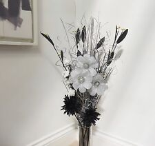 Unique 90 cm Silver /black Artificial Flower Bouquet HOME DINING ROOM, LOUNGE