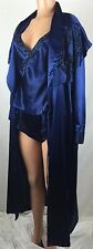 VTG Victoria Secret S Satin Lingerie Nighty Cami Shorts Robe 3 Pc Set Beaded k