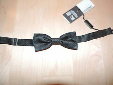 BURBERRY LONDON Dark Green Silver Silk Bow Tie