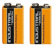 2 x DURACELL INDUSTRIAL 9v PP3 MN1604 6LR61 ALKALINE BATTERIES REPLACES PROCELL