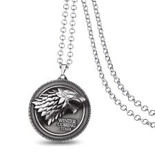 Game of Thrones House Stark Silver Colour Pendant necklace Costume Props Gifts