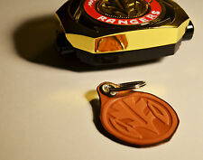 White Ranger Morph Coin Leather Keychain