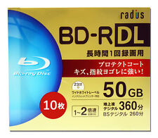10+1 FREE Bluray BD-R 50gb Blu Ray Video Inkjet Printable Blu-ray Dual Layer tdk