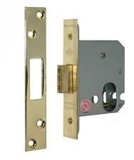 "Securefast - Qube Oval Profile Mortice Dead Lock 3 "" 76 mm Polished Brass Finish"