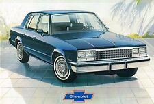 1982 Chevy MALIBU CLASSIC Sales Brochure / Catalog with Color Chart