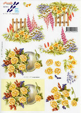 3D Motivbogen Etappenbogen Bastelbogen Schneidebogen Blumen Blüten Rosen (242)