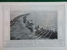 1914 JAPANESE NAVY TSING-TAU; BELGIAN BOYS DIG TRENCHES WW1 (1 SHEET, BOTH SIDES