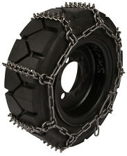 10X16.5 Skid Steer Tire Chains 8mm Studded Link Loader Bobcat Traction
