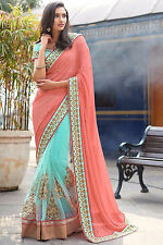 Bollywood Indian Designer Party Wear Saree Sari Pakistani Bridal Wedding Saree