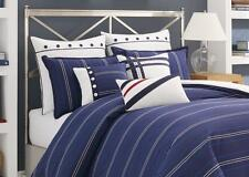 NAUTICA WINSTON KING DUVET COVER NAVY BLUE NWT MSRP $240 Free Priority Shipping