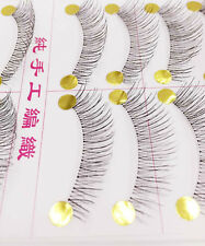 10 Pairs False Eyelashes Handmade Long Thick Natural Fake Eye Lashes Black Hot