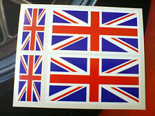 Drapeaux Union Jack 100mm & 50mm lot de 4 Go UK van pare-chocs Autocollants Stickers