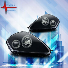 2000-2005 Mitsubishi Eclipse Dual Halo Projectors Lamps Black Headlights PAIR