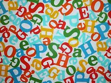 CLEARANCE FQ DR SEUSS ALPHABET LETTERS FABRIC KITSCH