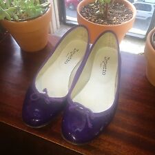 REPETTO 37.5 Purple Patent Leather Ballet Flats