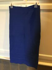 "BCBG ""Leger"" Pencil power Party Skirt $178 LHL3C615 Royal Blue Medium bandage"