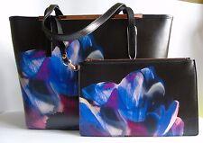 TED BAKER Designer Handbag & Purse Leather Large Shopper Black Rose Gold Dustbag