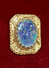 Unique Hand Made Large Pendant W/ Opal Gem Stone. Stunning !!