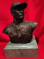 BEAUTIFUL ROBERTO CLEMENTE PITTSBURGH PIRATES  BRONZE + MARBLE BUST STATUE