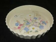 POOLE POTTERY FLUTED FLAN or QUICHE DISH Springtime Pattern Unused