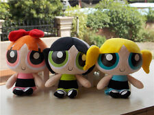 "Powerpuff Girls Doll The 1999 Cartoon Network 9"" Plush Doll Toy Set of 3"