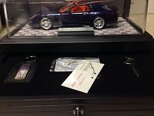 1/24 Franklin Mint Signed Blue Corvette C12 Callaway Roadster # 978 B20ZK67