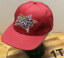 NWOT 2002 WRANGLER NATIONAL FINALS RODEO NFR HAT RED ADJUSTABLE