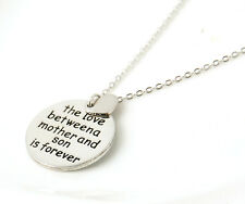 """Trendy Style """"The Love Between A Mother And Son Is Forever"""" Necklace&Pendant"""