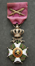 Belgium, Belgian : WW2 Vintage Knights' Order of Leopold military version medal